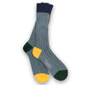 fine stripe heel & toe socks
