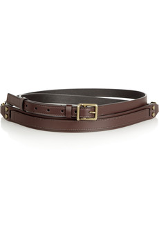 Lanvin Leather double-wrap belt