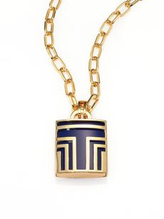 Tory Burch Padlock Pendant Necklace