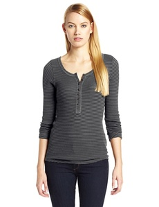 Lucky Brand Women's Carina Stripe Thermal Shirt