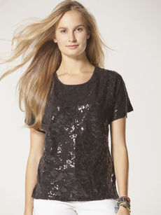 geo sequin disco tee