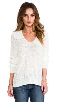 Joie Flanna Linen Sweater in Ivory