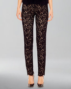 Michael Kors Fitted Lace Pants