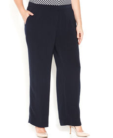 Jones New York Collection Plus Size Wide-Leg Pants