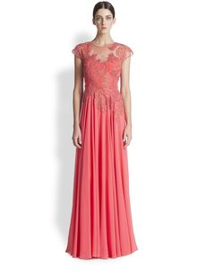 Teri Jon Lace Applique Gown
