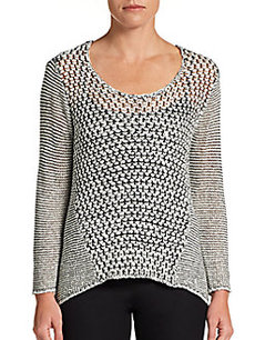Ellen Tracy Twist Knit Sweater