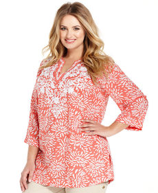 Charter Club Plus Size Printed Tunic Top