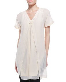 Robert Rodriguez Silk Overlay-Illusion Tunic
