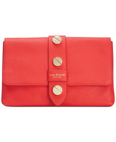 Isaac Mizrahi Pebbled Leather Olivia Clutch
