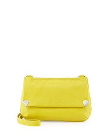 Foley + Corinna Unchained Pebbled Leather Crossbody, Lime