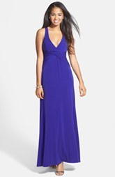 Laundry by Shelli Segal Knotted Jersey Cross Back Gown