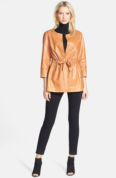 Lafayette 148 New York Leather Topper, Classiques Entier® Turtleneck & Eileen Fisher Leggings