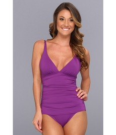Tommy Bahama Pearl Solids OTS V Neck One-Piece