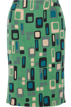 M Missoni Printed silk skirt