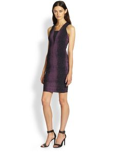 Robert Rodriguez Crocodile-Print Scuba Dress