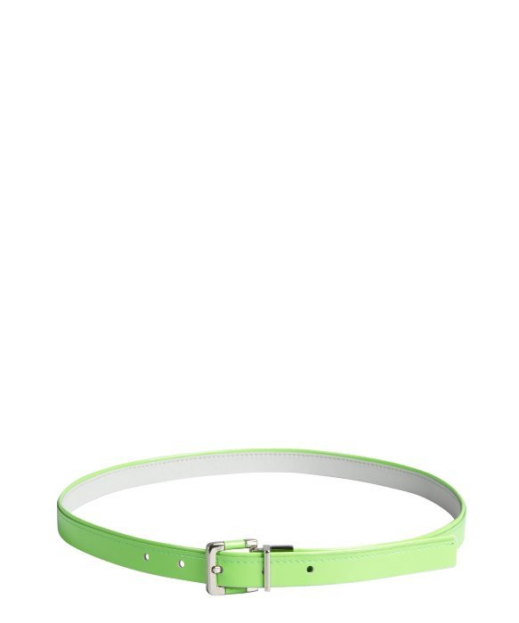 Calvin Klein citron and grey patent eather 'Neon Pop' reversible belt