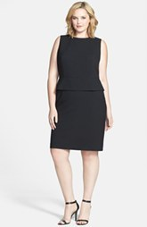 Calvin Klein Peplum Sheath Dress (Plus Size)