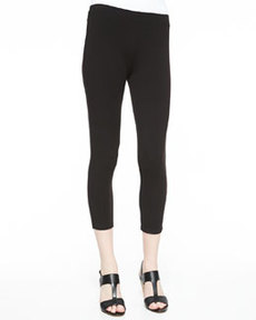 Joan Vass Cropped Stretch Leggings, Women's