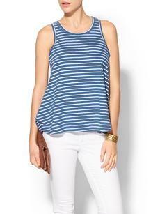 Splendid Indigo Dye Medium Venice Stripe Tank