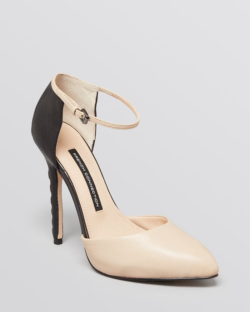 FRENCH CONNECTION Pointed Toe Platform Pumps - Catia High Heel
