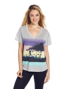 Steve Madden Womens Graphic Lounge Tee