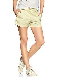 Sunkissed piped khaki shorts