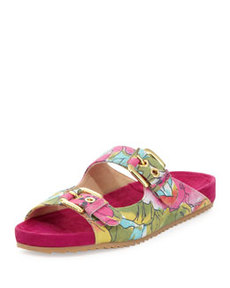 Freely Floral-Print Sandal, Sunflower   Freely Floral-Print Sandal, Sunflower