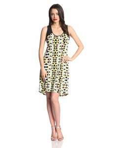 Calvin Klein Women's Printed Hi-Lo Dress
