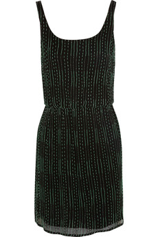 Alice + Olivia Gabby beaded silk-chiffon dress