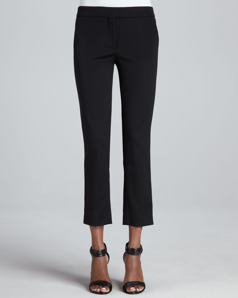 Etro Front-Closure Slim Ankle Pants, Black