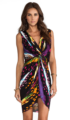 T-Bags LosAngeles Knot Dress in Purple