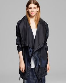 DKNY Pure Asymmetrical Zip Front Jacket