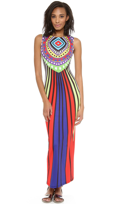 Mara Hoffman Rays Fitted Maxi Dress