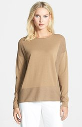Lafayette 148 New York 'Opulent' Cotton Blend Sweater