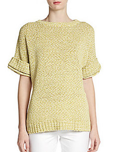 Lafayette 148 New York Marled Boatneck Sweater