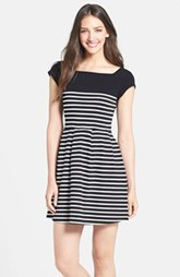 French Connection Cap Sleeve Stripe Dress
