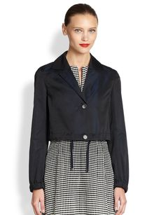 Akris Punto Cropped Drawstring Jacket