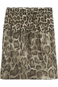 MICHAEL Michael Kors Animal-print chiffon mini skirt