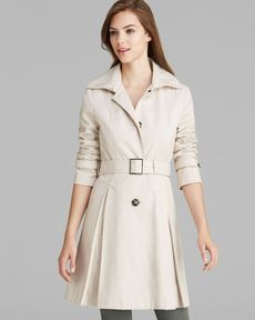 Laundry by Shelli Segal Rain Coat - Single-Breasted Belted