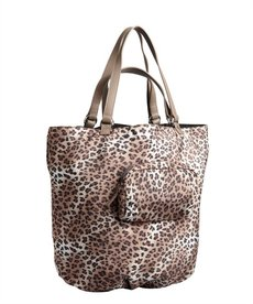 Kooba light brown leopard print nylon 'Audra' reversible tote