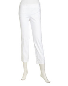 Laundry by Shelli Segal Cropped Slim Twill Pants, Optic White