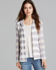 Splendid Cardigan - Stripe Loose Knit