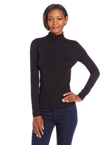 Three Dots Women's Long Sleeve Turtleneck
