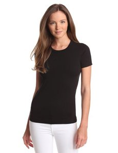 Three Dots Women's Short Sleeve Crewneck Tee