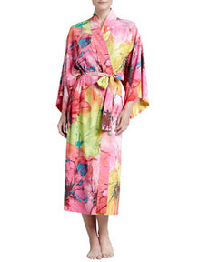 Gala Satin Watercolor Robe   Gala Satin Watercolor Robe