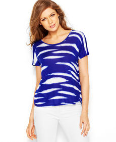 kensie Animal-Striped Tee