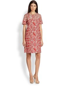 Max Mara Favola Short-Sleeve Shift Dress