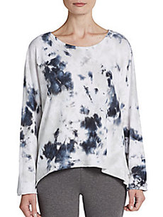 MARC NEW YORK by ANDREW MARC Performance Tie-Dyed Hi-Lo Sweatshirt