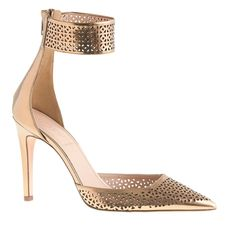 Collection Natasha perforated mirror metallic pumps