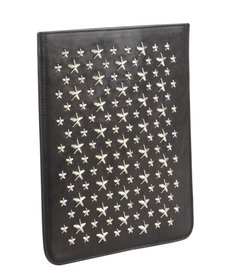 Jimmy Choo black leather studded iPad Mini sleeve